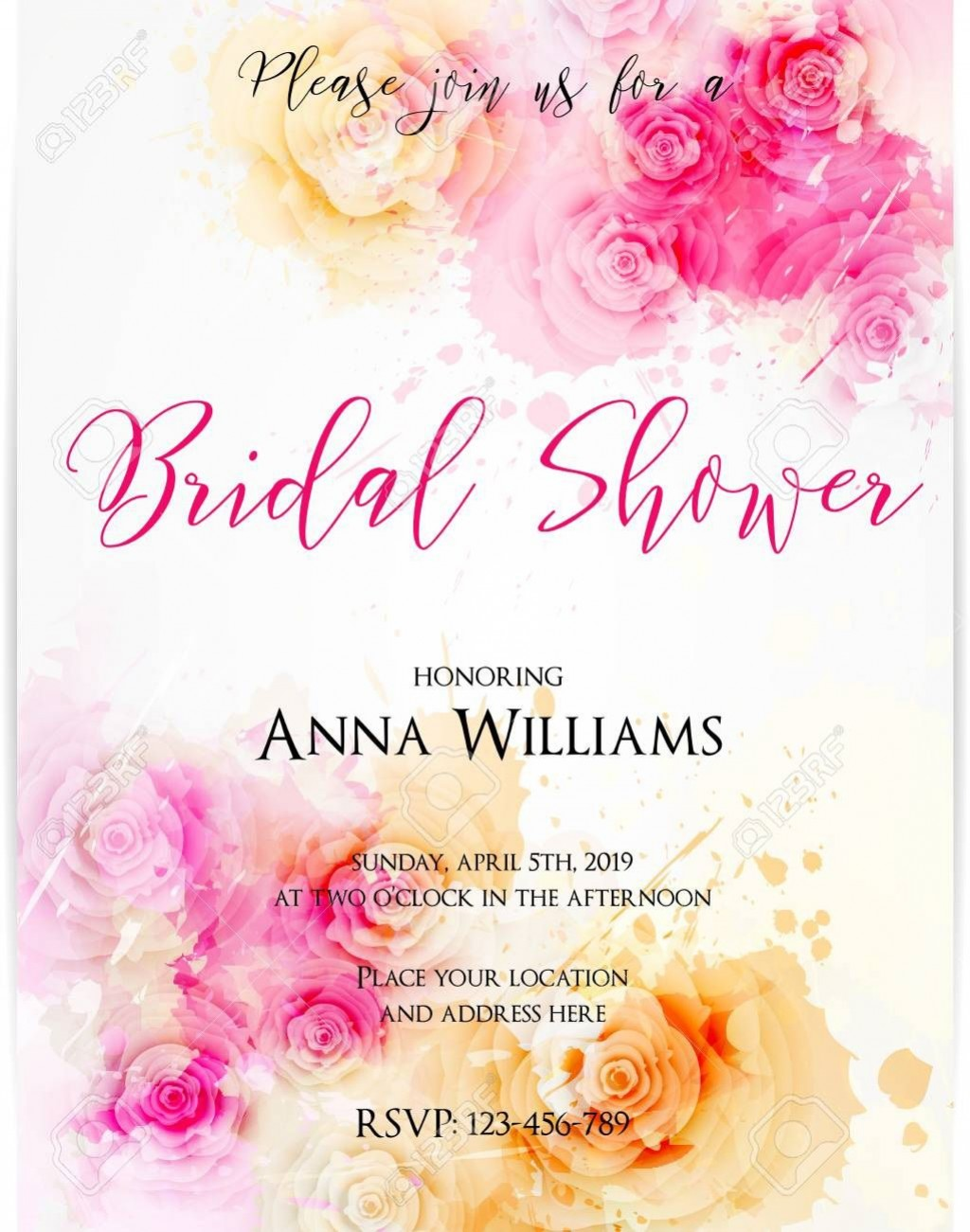 004 Excellent Wedding Shower Invitation Template Image  Templates Bridal Pinterest Microsoft Word Free ForLarge