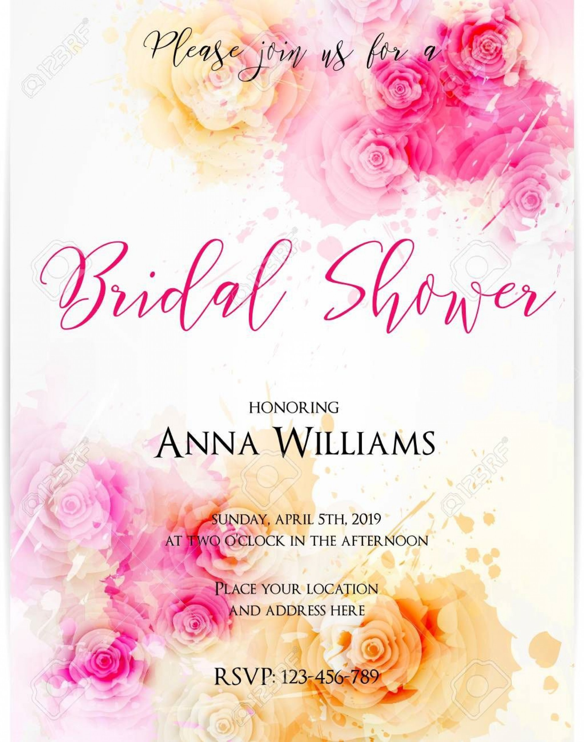 004 Excellent Wedding Shower Invitation Template Image  Templates Bridal Pinterest Microsoft Word Free For1920