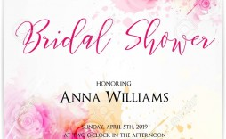 004 Excellent Wedding Shower Invitation Template Image  Templates Bridal Pinterest Microsoft Word Free For