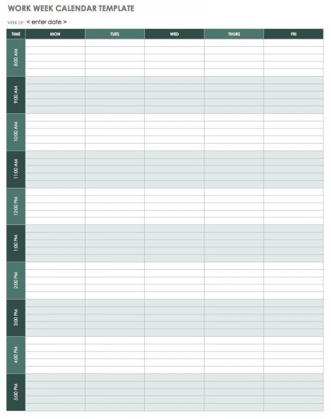 004 Excellent Weekly Schedule Template Pdf High Def  Employee Free Work Lesson Plan Format480