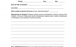 004 Exceptional Accident Report Form Template Inspiration  Free South Africa Pdf