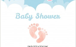 004 Exceptional Baby Shower Invitation Template Image  Editable Girl Downloadable Free Pdf Virtual