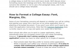 004 Exceptional College Essay Format Example Concept  Examples Writing Application Sample Admission