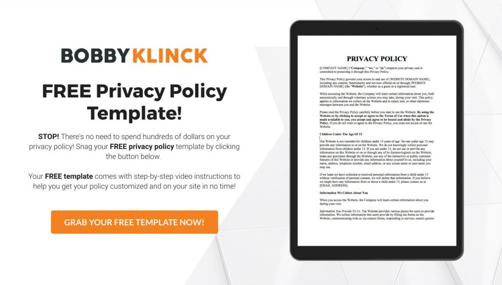 004 Exceptional Company Privacy Policy Template Example  For Software AustraliaLarge