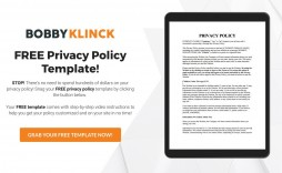 004 Exceptional Company Privacy Policy Template Example  For Software Australia