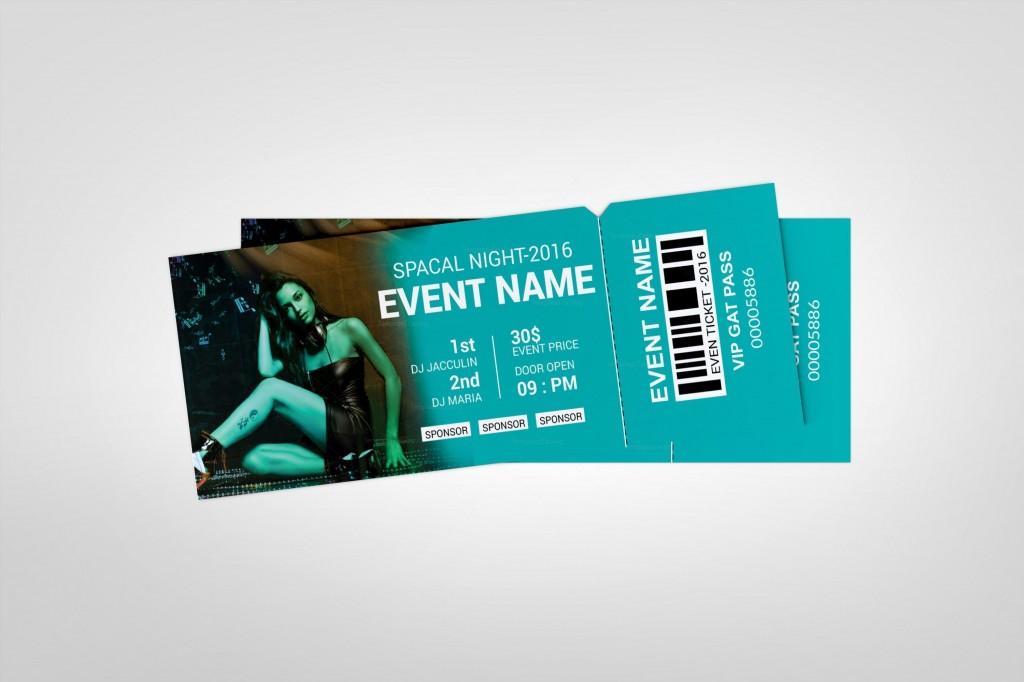 004 Exceptional Event Ticket Template Photoshop Idea  Design Psd Free DownloadLarge