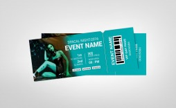 004 Exceptional Event Ticket Template Photoshop Idea  Design Psd Free Download