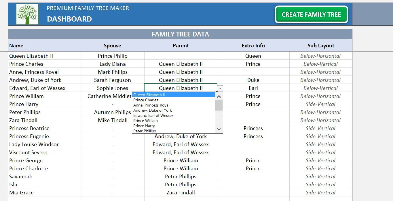 004 Exceptional Excel Family Tree Template Picture  10 Generation Download Free EditableFull