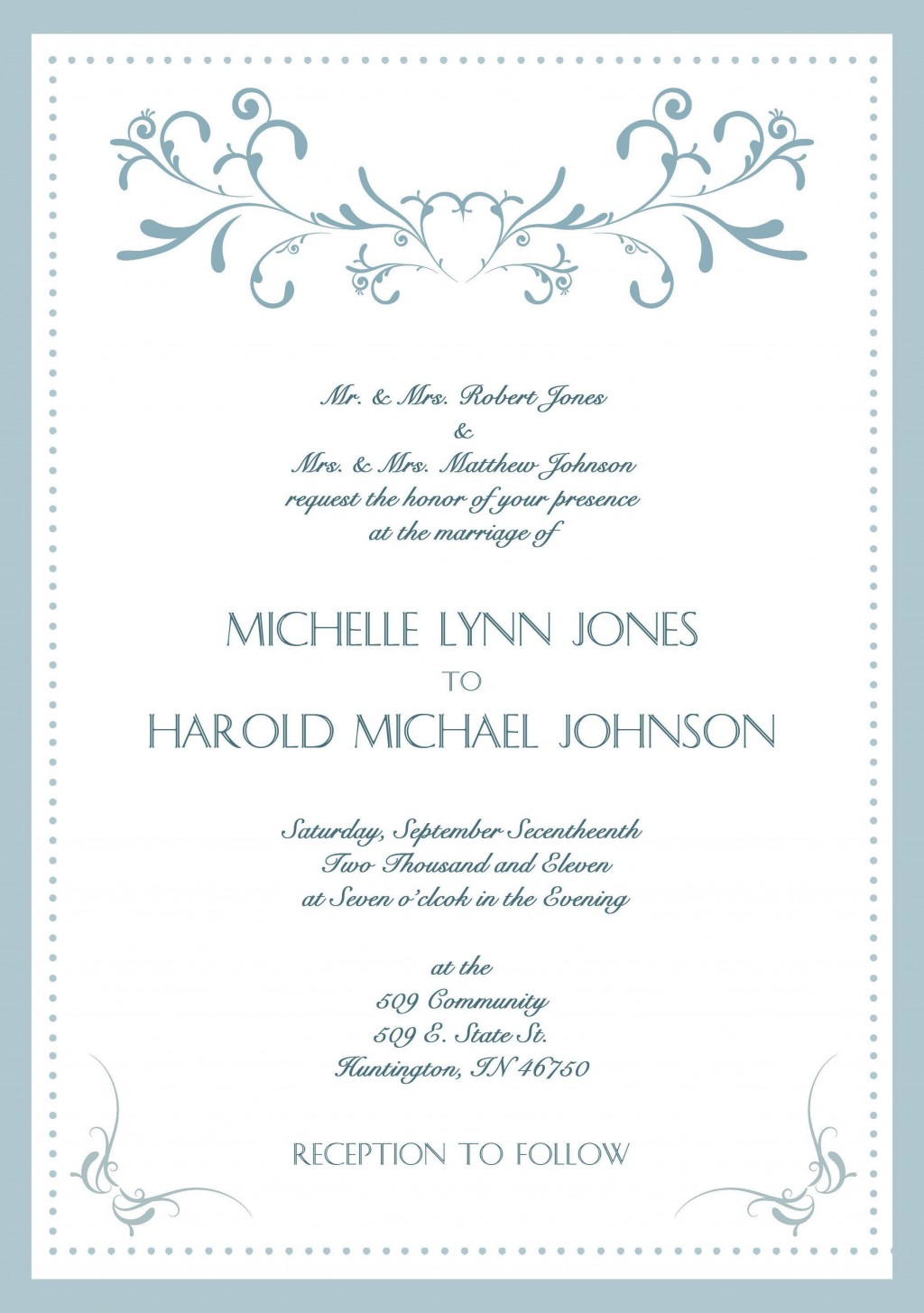 004 Exceptional Formal Wedding Invitation Wording Template High Definition  TemplatesLarge