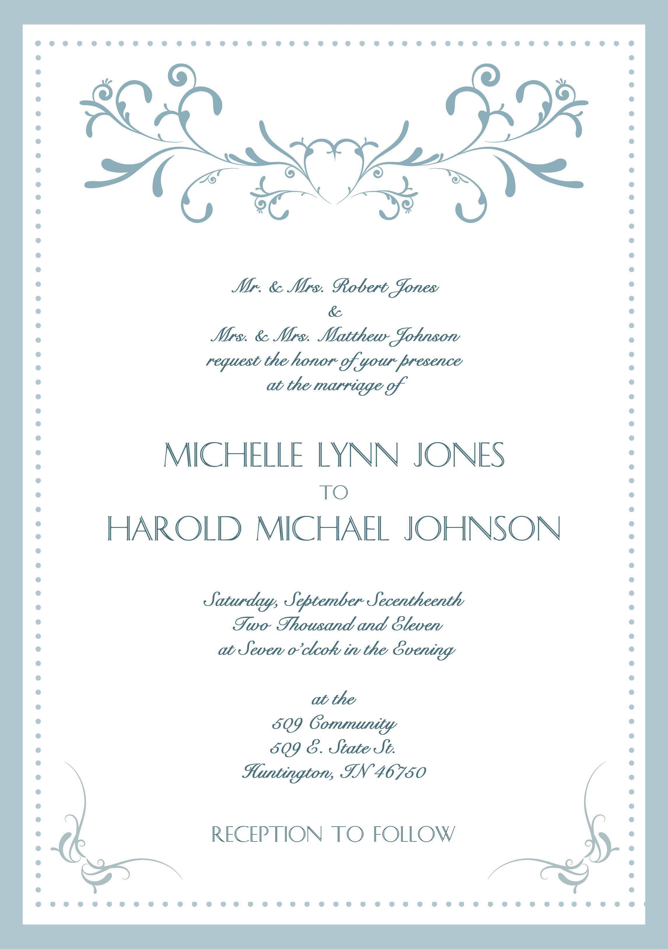 004 Exceptional Formal Wedding Invitation Wording Template High Definition  TemplatesFull
