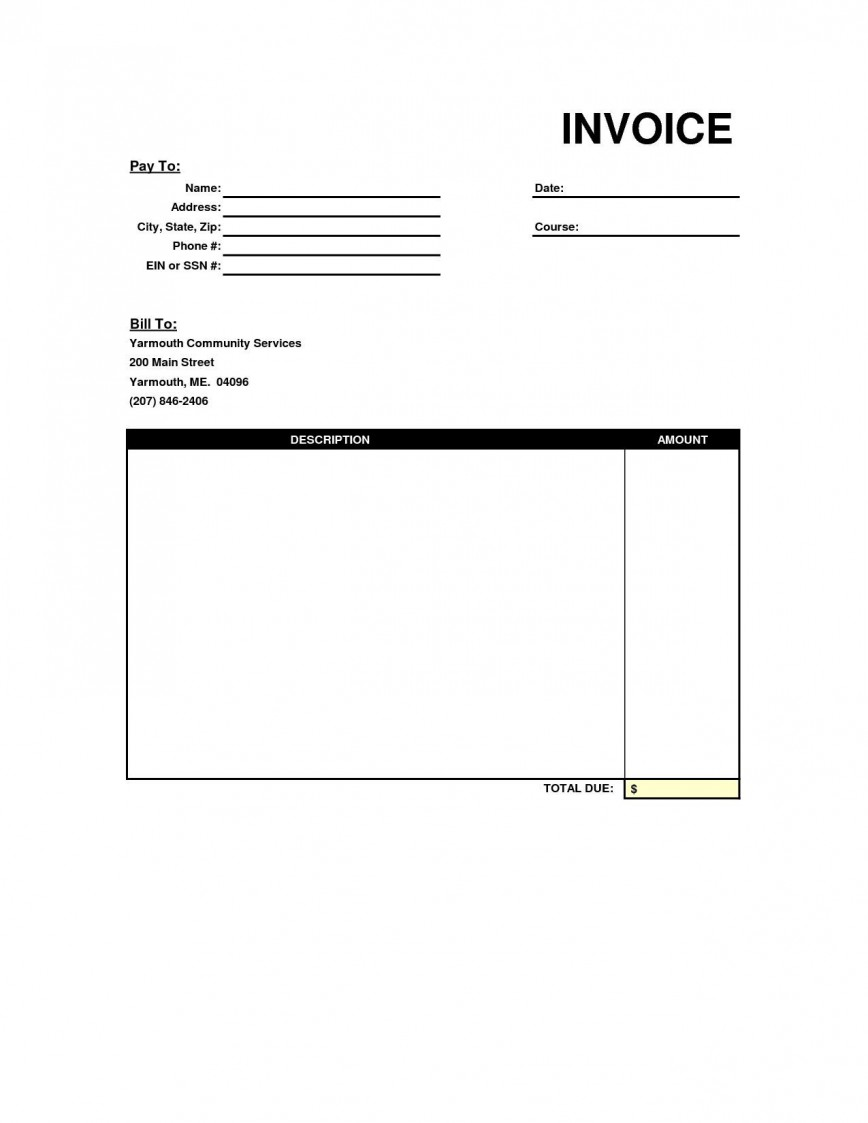004 Exceptional Free Blank Invoice Template Photo  Printable Uk Australia