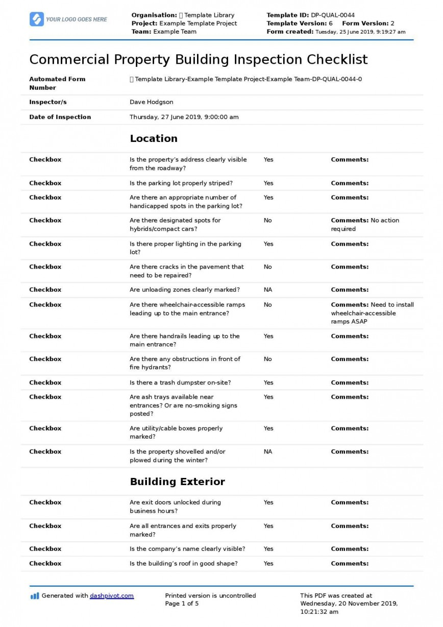 004 Exceptional Free Commercial Construction Punch List Template Highest Quality