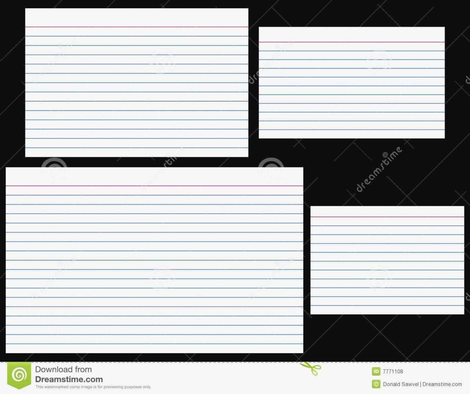 004 Exceptional Free Index Card Template High Def  Printable EditableFull
