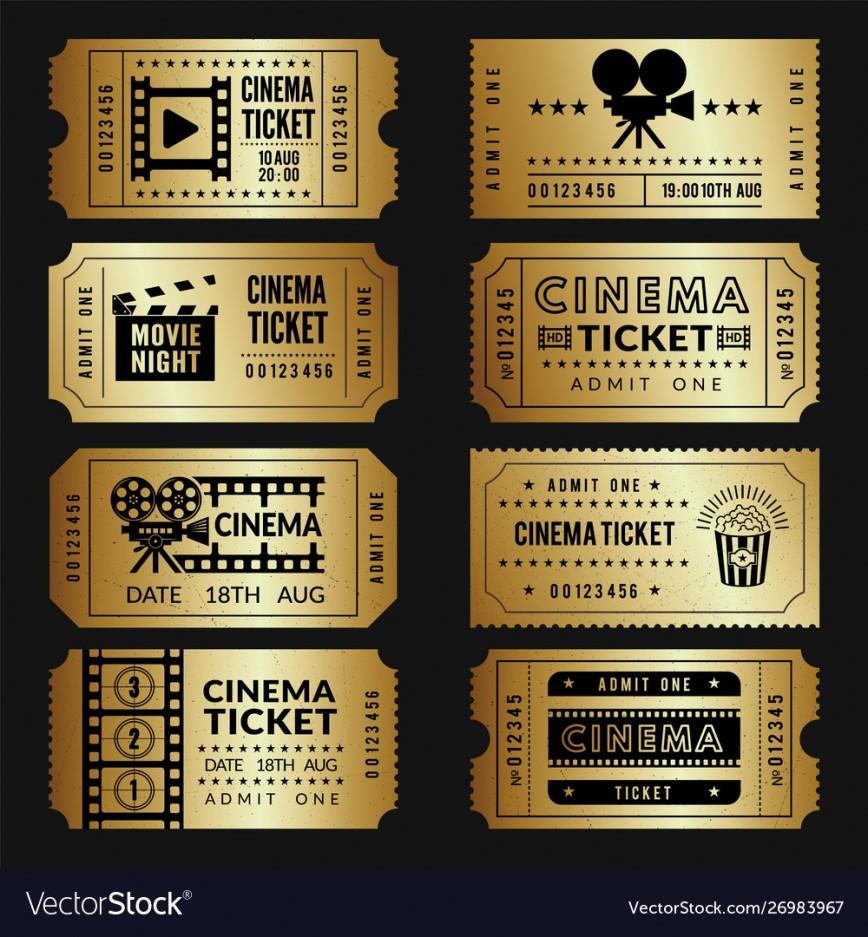 Free Movie Ticket Template Addictionary