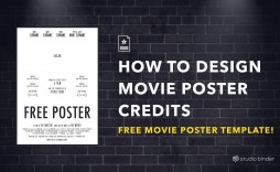 004 Exceptional Free Photoshop Movie Poster Template High Resolution  Templates