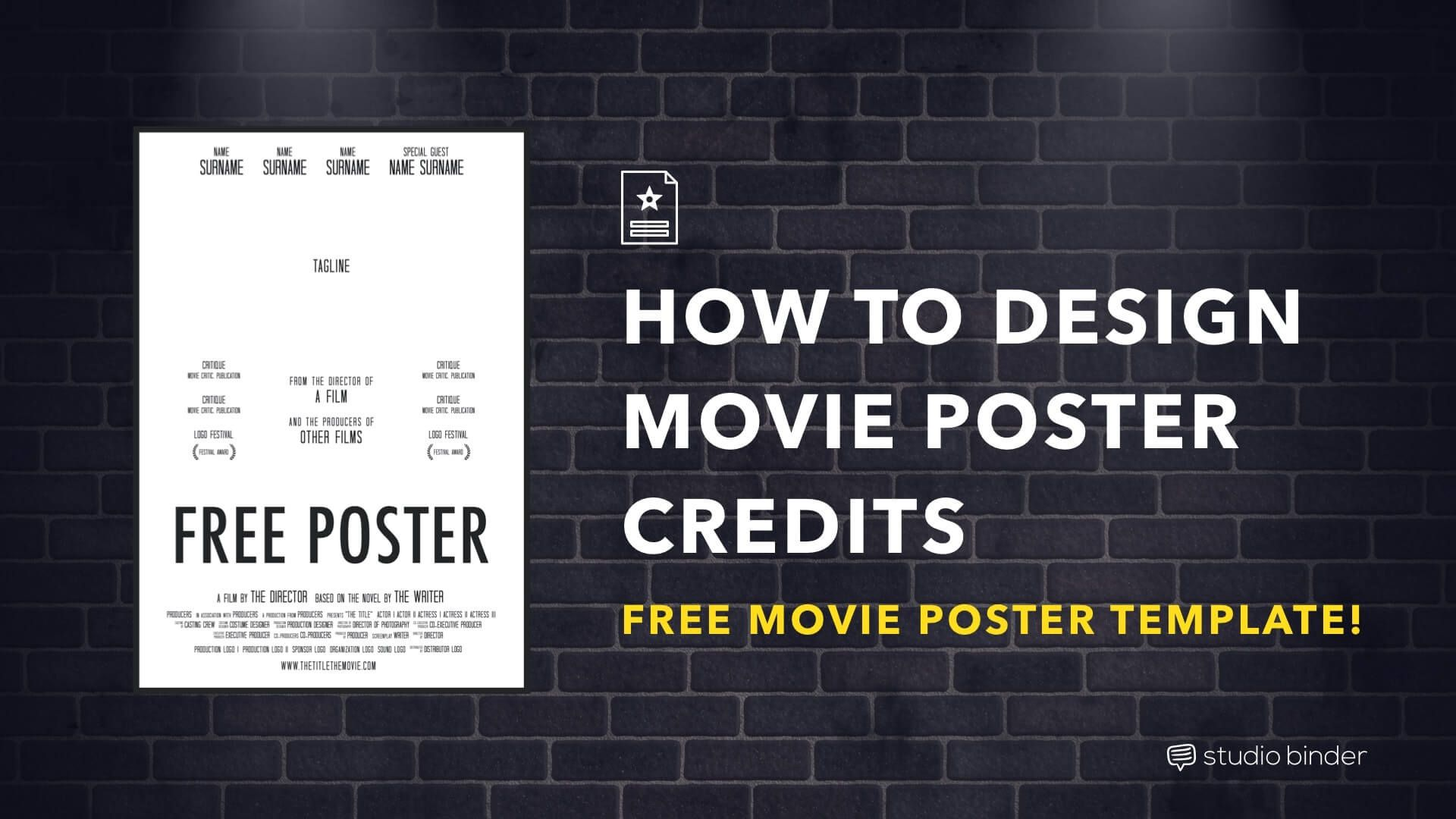 004 Exceptional Free Photoshop Movie Poster Template High Resolution  TemplatesFull