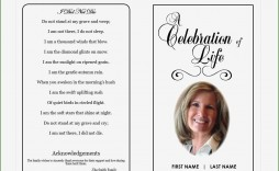 004 Exceptional Free Printable Celebration Of Life Program Template Image