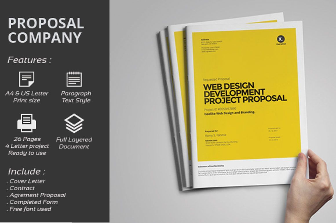 004 Exceptional Graphic Design Proposal Template Word High Resolution Full