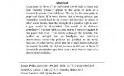 004 Exceptional Gun Control Essay Idea  Anti Thesi Example Argumentative Title