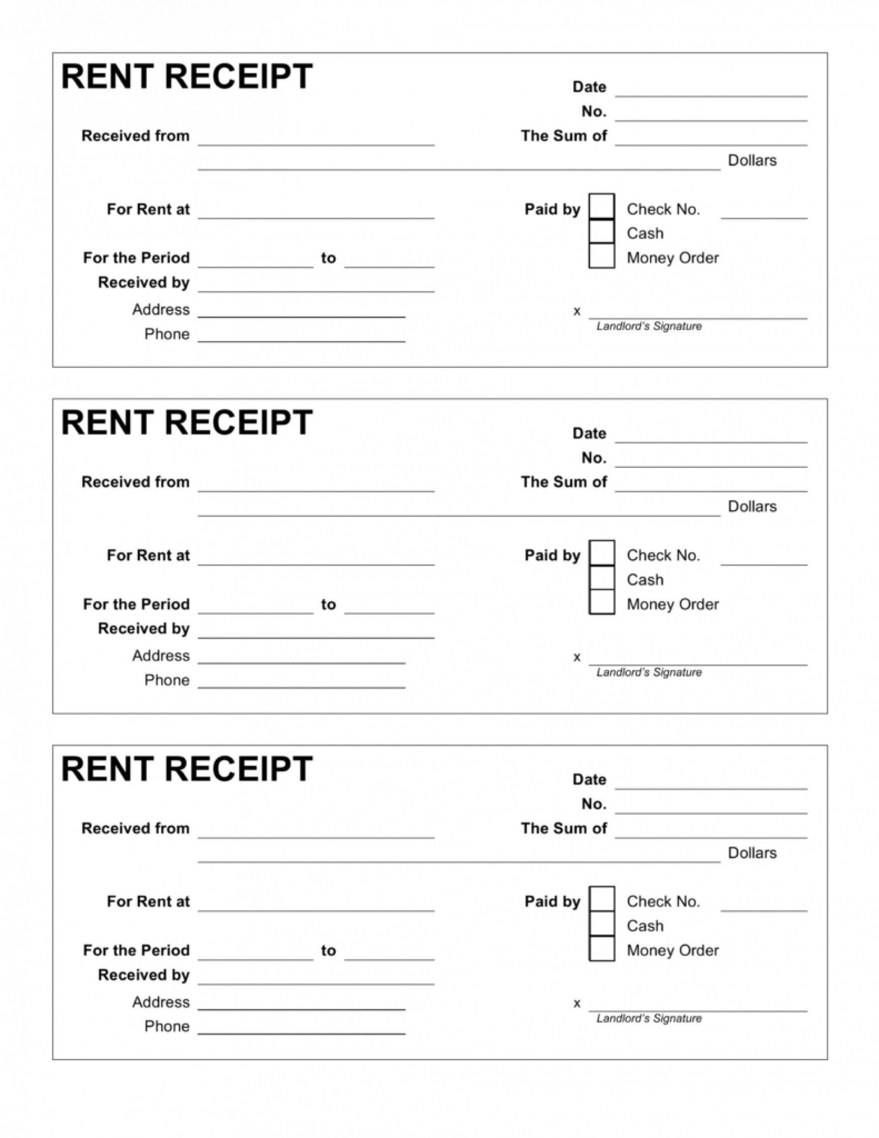 004 Exceptional House Rent Receipt Template India Doc Idea  Format DownloadFull