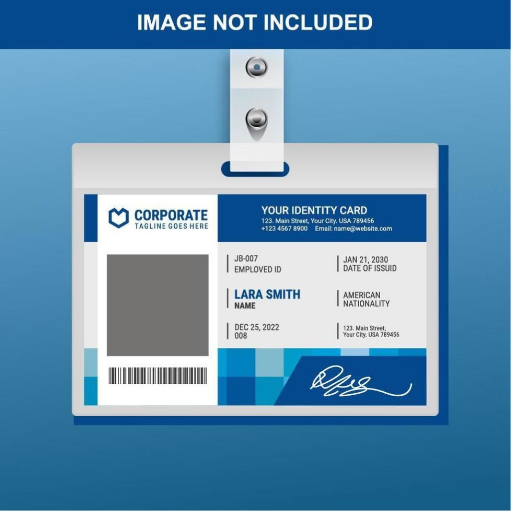004 Exceptional Id Badge Template Free Online Idea Large