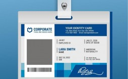 004 Exceptional Id Badge Template Free Online Idea
