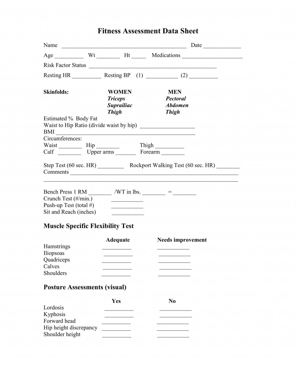 004 Exceptional Medical History Form Template For Personal Training Photo Large