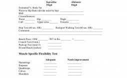004 Exceptional Medical History Form Template For Personal Training Photo