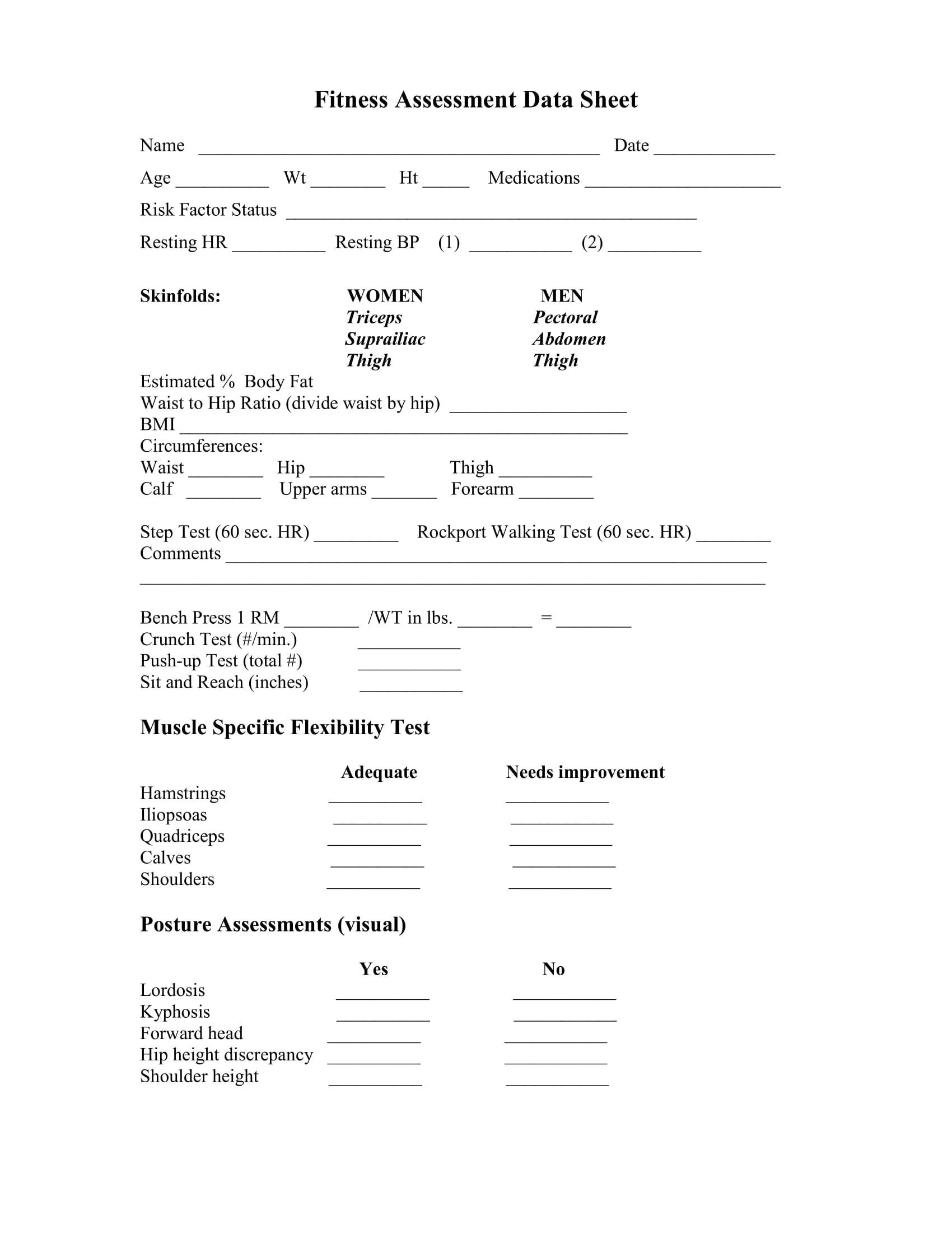 004 Exceptional Medical History Form Template For Personal Training Photo Full