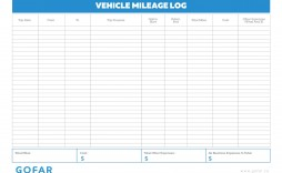 004 Exceptional Mileage Log Printable Template Photo  Book Excel