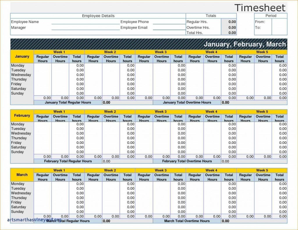 004 Exceptional Monthly Timesheet Excel Template Image  Multiple Employee Free Semi-monthly 2020Large