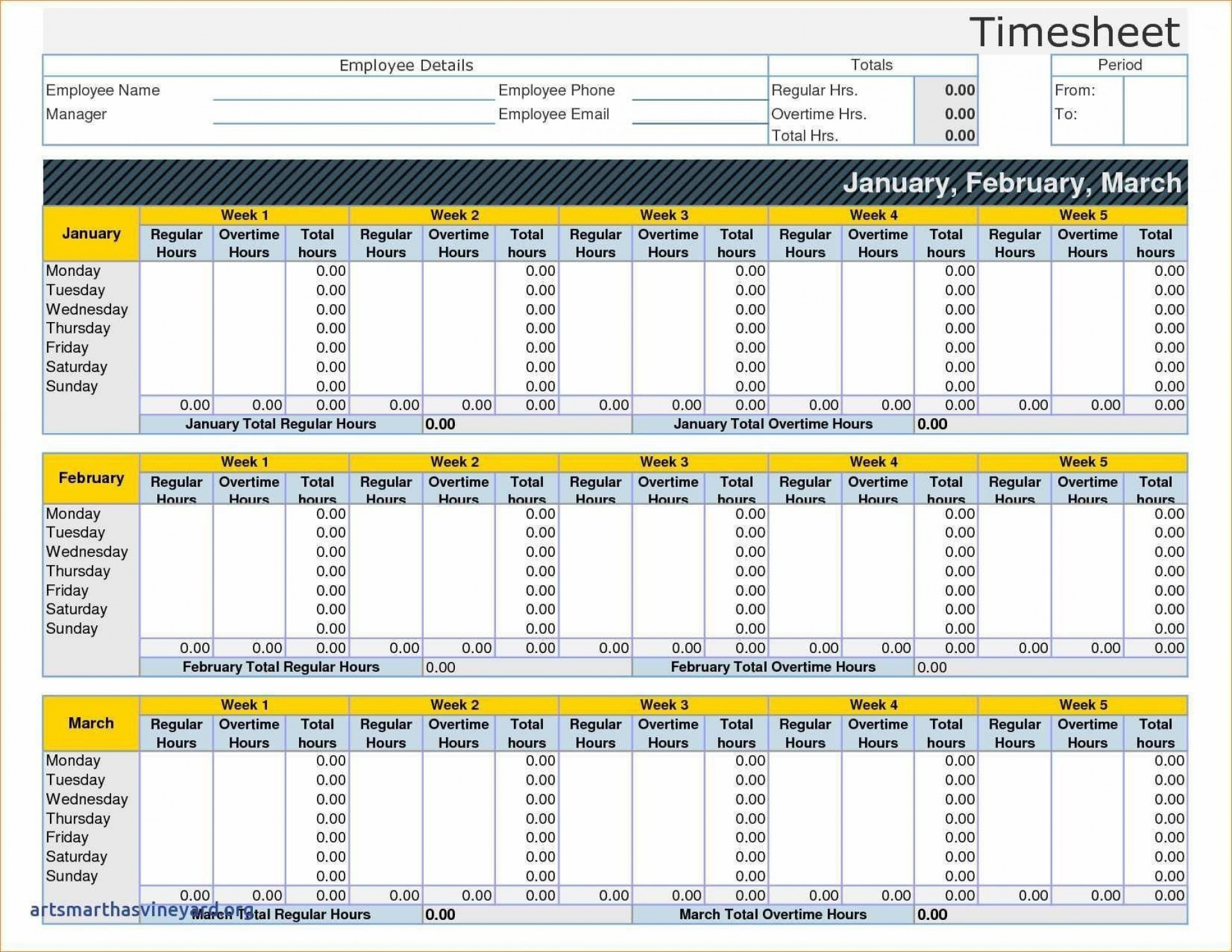 004 Exceptional Monthly Timesheet Excel Template Image  Multiple Employee Free Semi-monthly 20201920