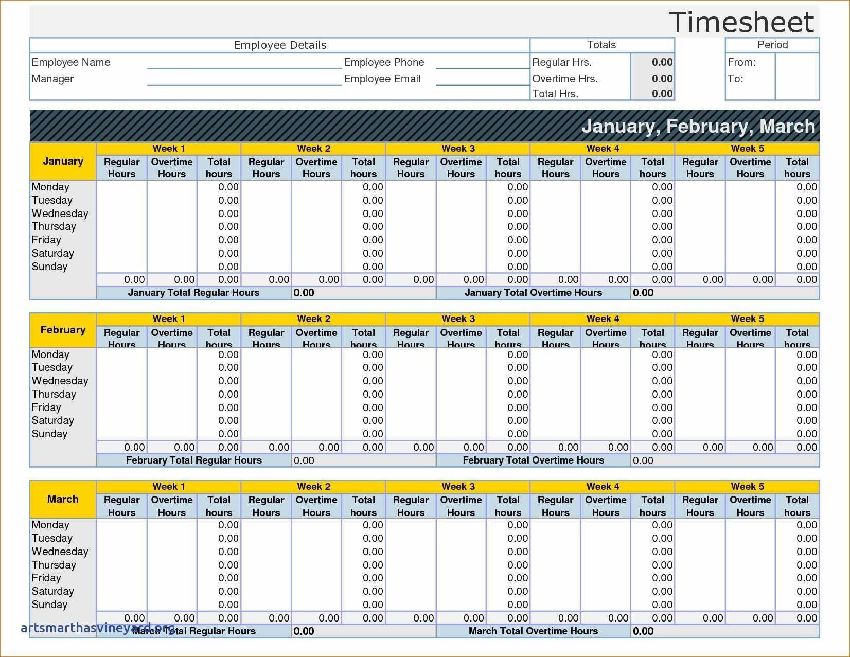 004 Exceptional Monthly Timesheet Excel Template Image  Multiple Employee Free Semi-monthly 2020Full