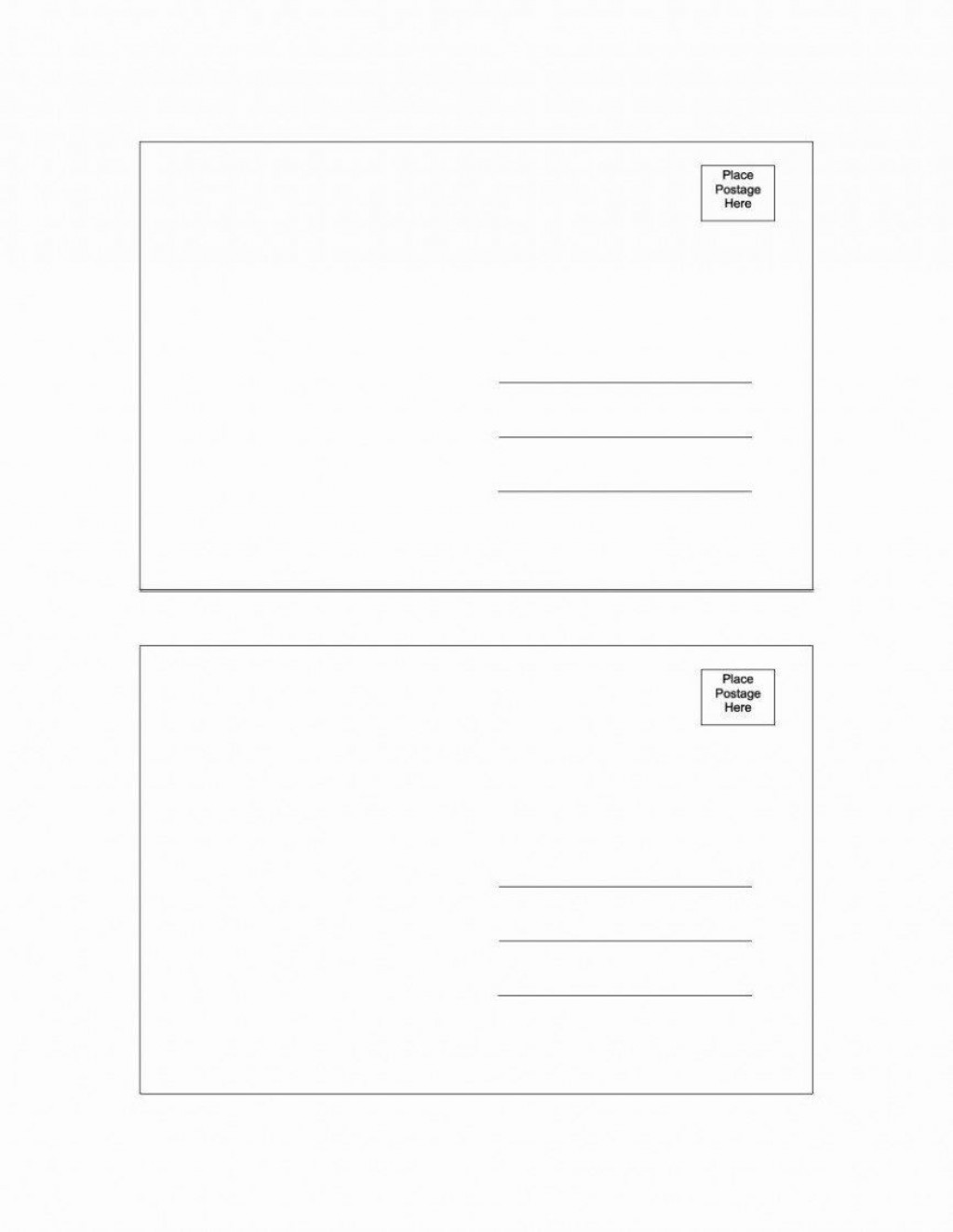 004 Exceptional Postcard Template Download Microsoft Word Example Large