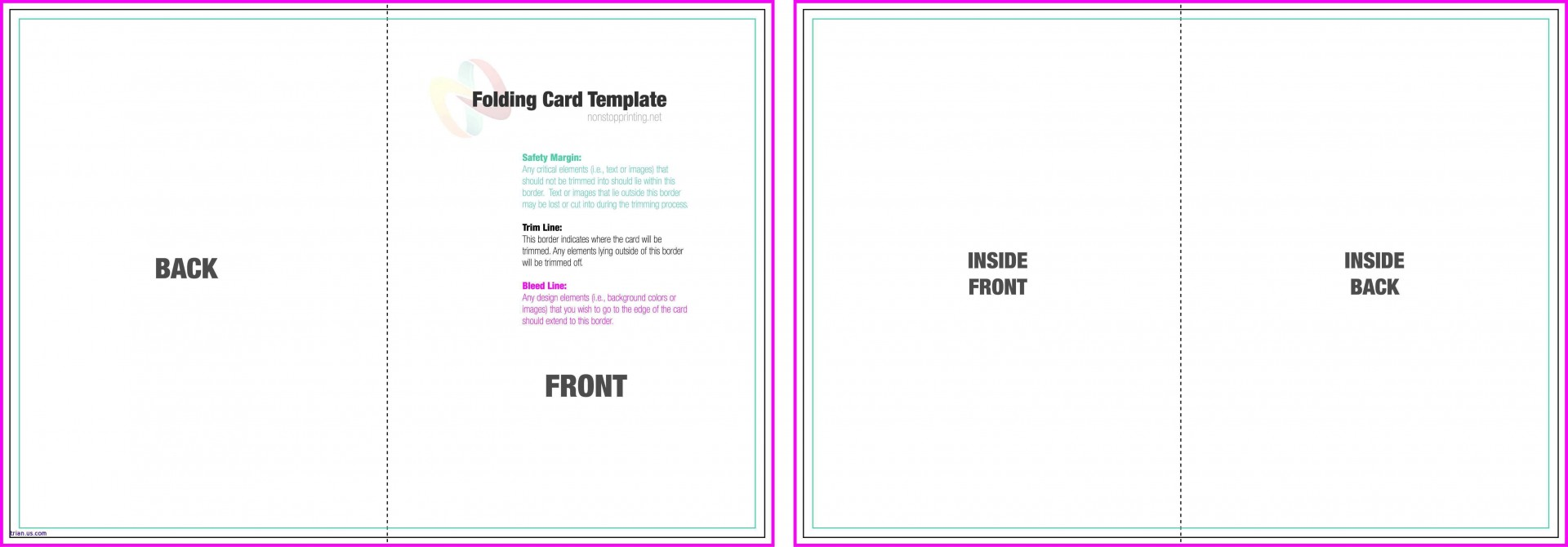 004 Exceptional Quarter Fold Card Template Sample  Templates Greeting Microsoft Word Page1920