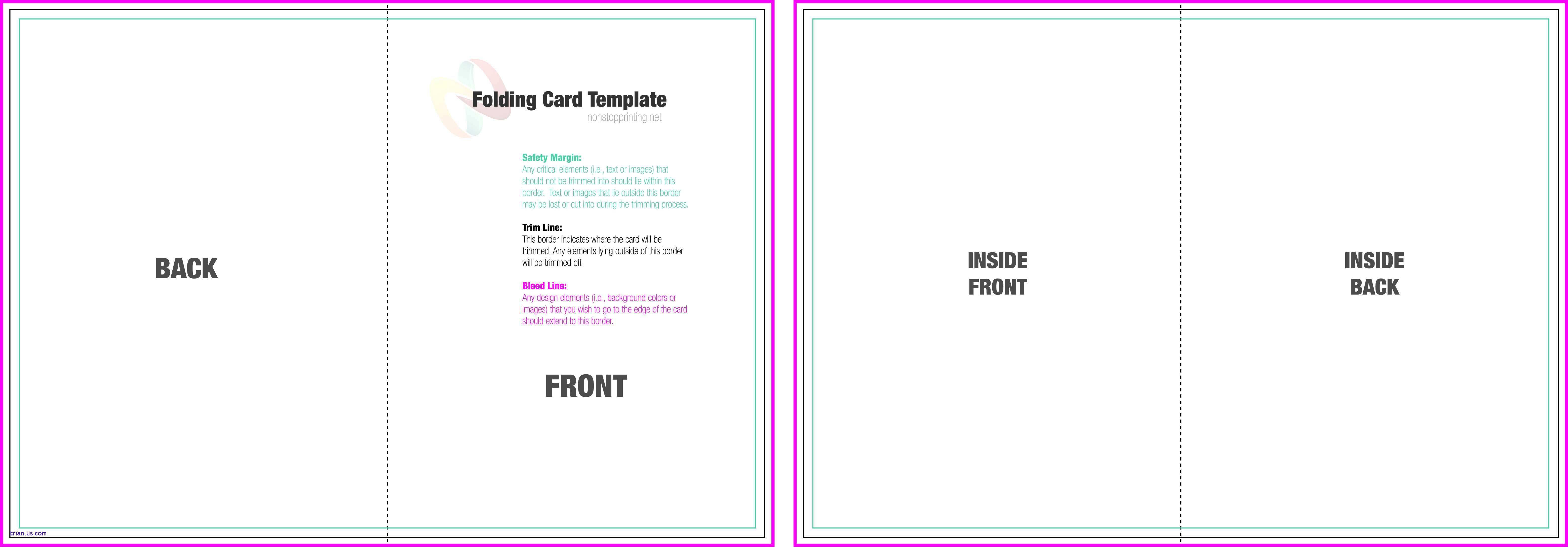 004 Exceptional Quarter Fold Card Template Sample  Templates Greeting Microsoft Word PageFull