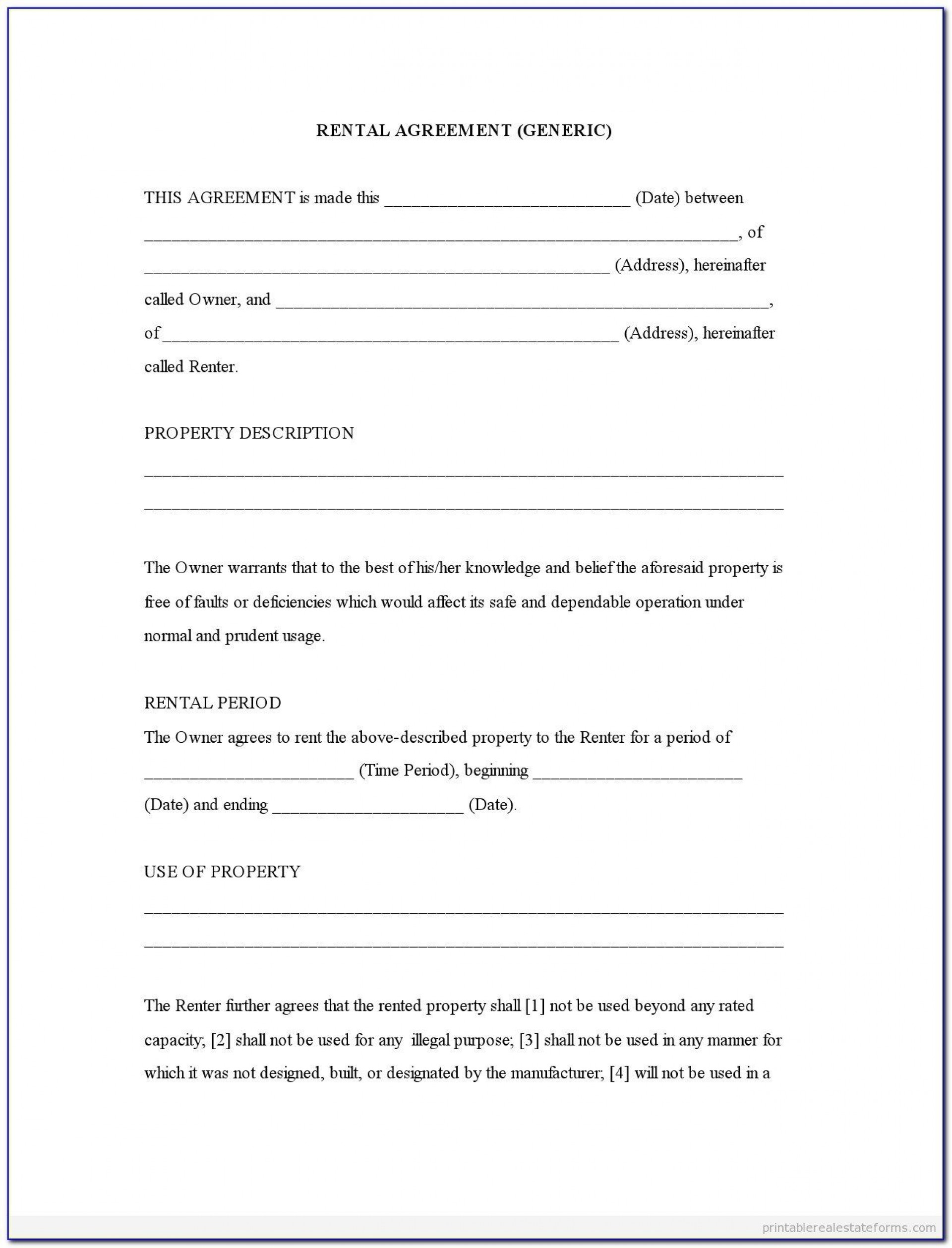 004 Exceptional Rental Agreement Template Word Free Picture  Tenancy Shorthold1920