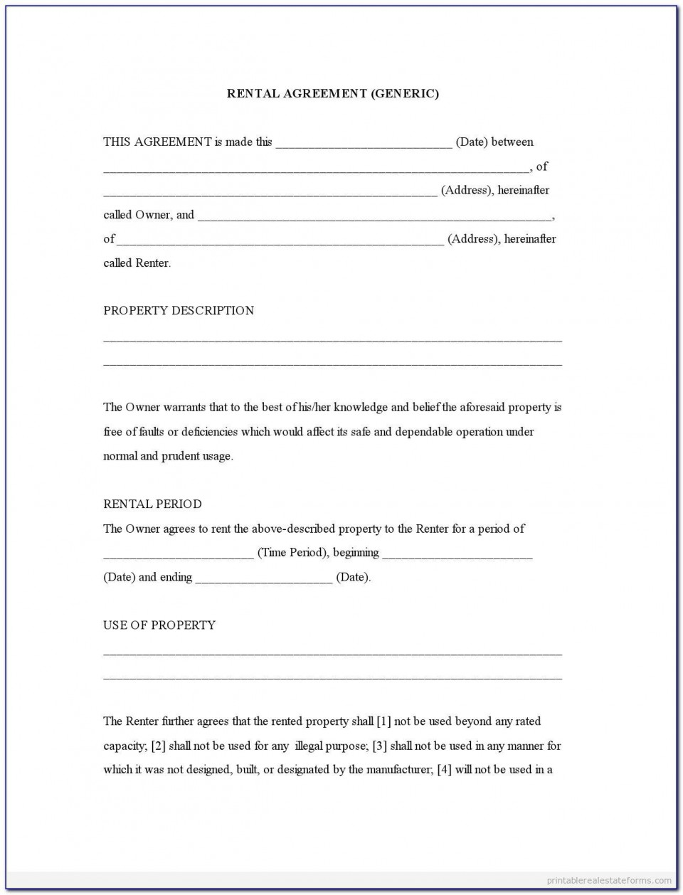004 Exceptional Rental Agreement Template Word Free Picture  Room Doc In Tamil Format Download960
