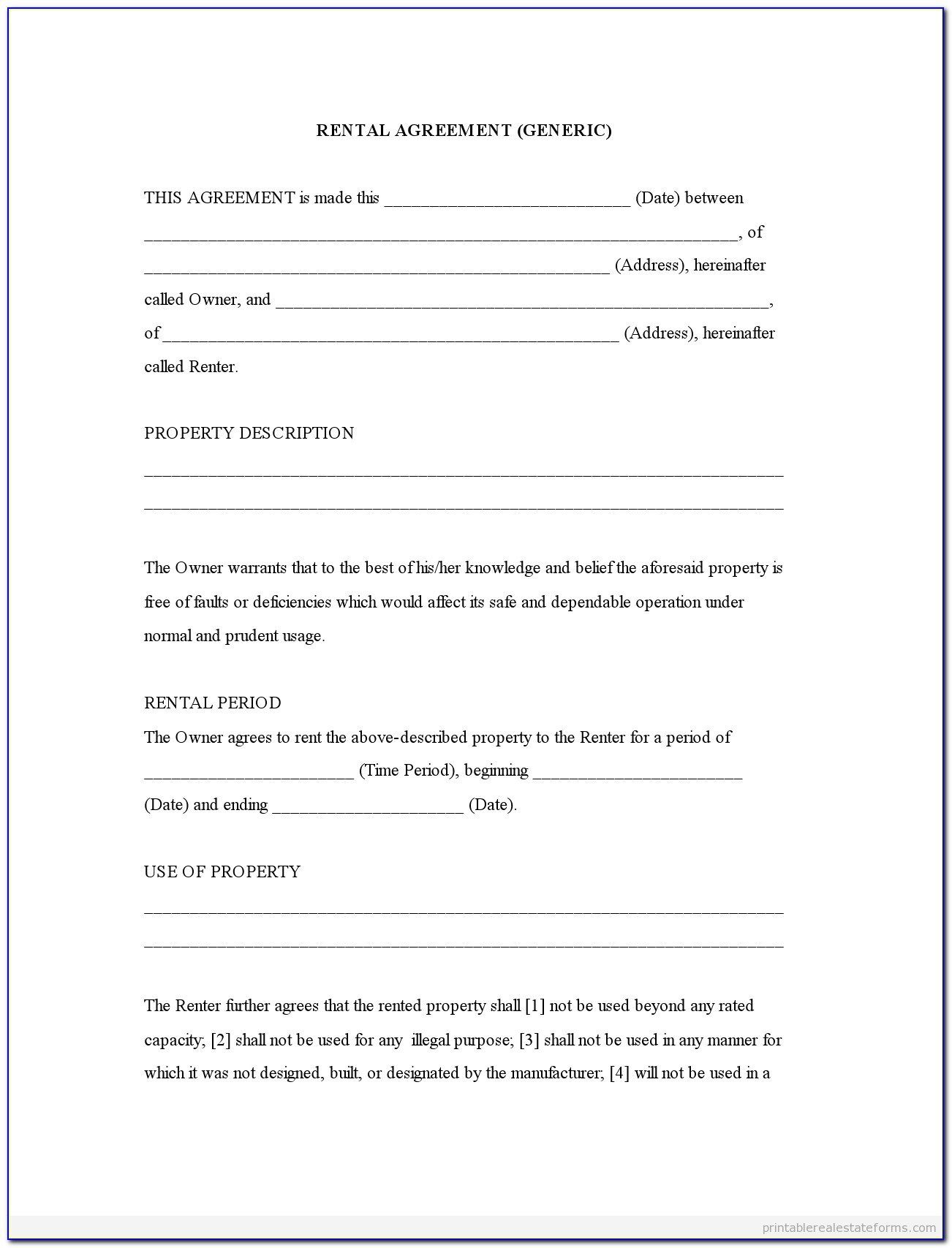 004 Exceptional Rental Agreement Template Word Free Picture  Tenancy ShortholdFull