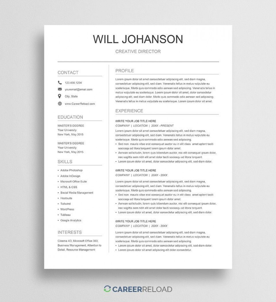 004 Exceptional Resume Sample Free Download Doc Idea  Resume.doc For Fresher960
