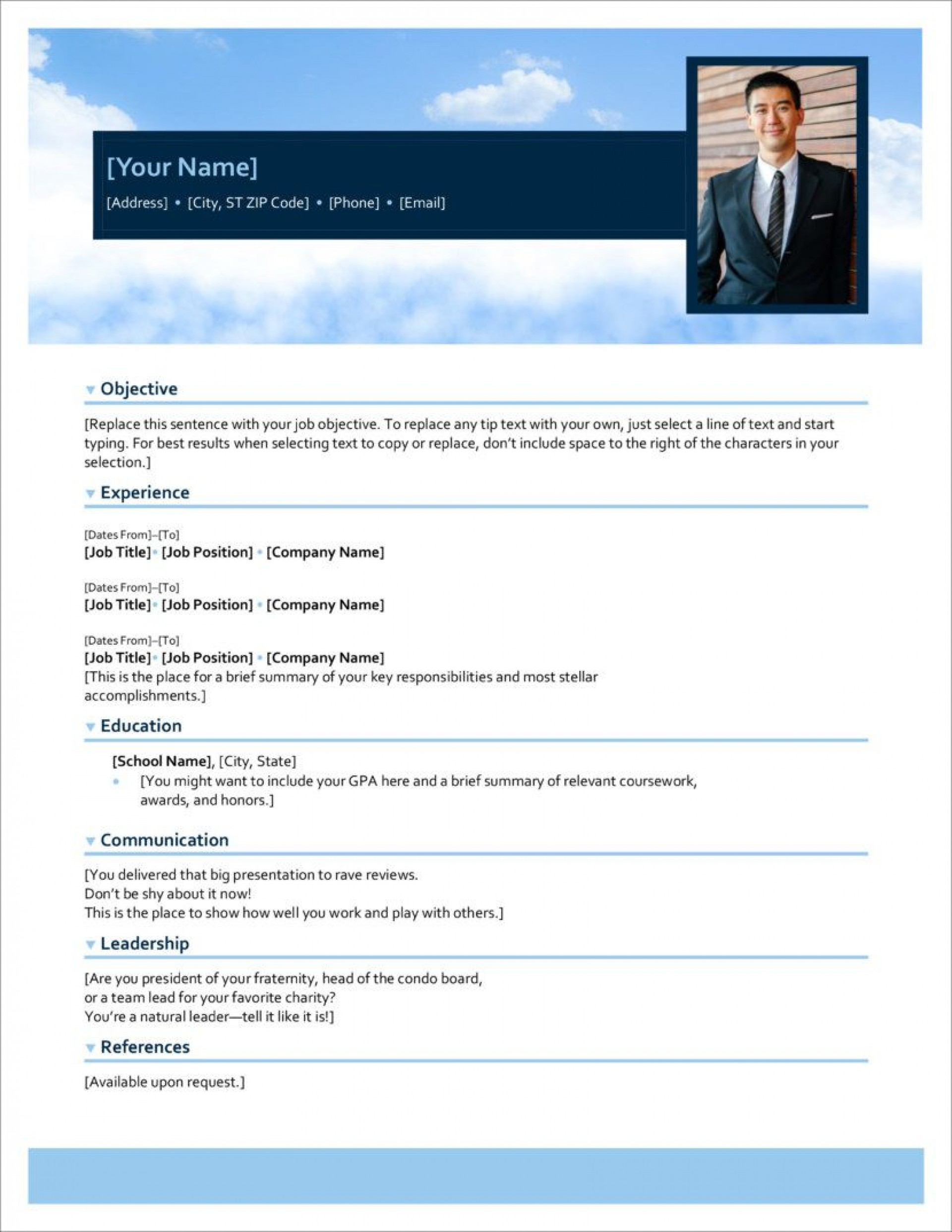 004 Exceptional Resume Template For Microsoft Word 2007 Free Sample  Download Office1920