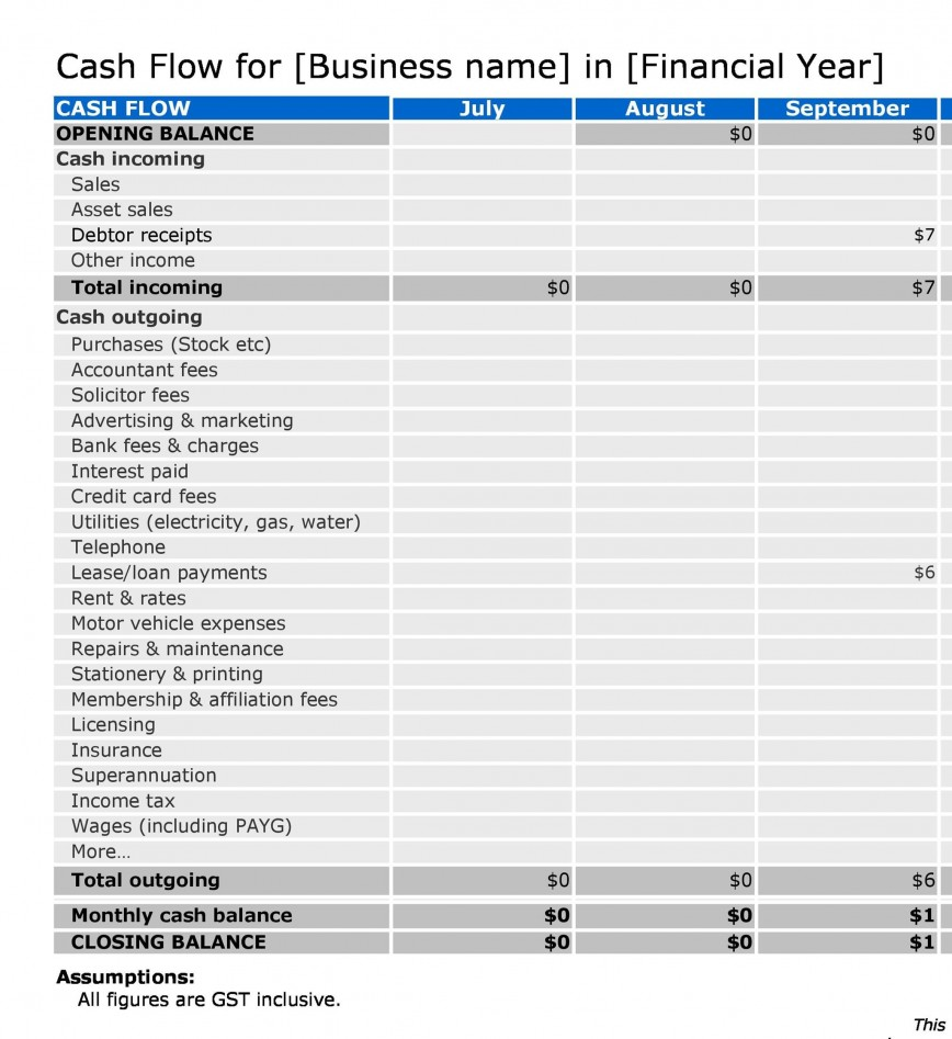004 Exceptional Statement Of Cash Flow Template Ifr High Resolution  Excel868