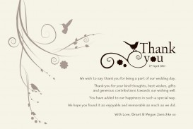 004 Exceptional Wedding Thank You Note Template Sample  Example Wording For Money Gift Shower