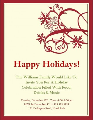004 Exceptional Xma Party Invite Template Free Sample  Holiday Invitation Word Download Christma320