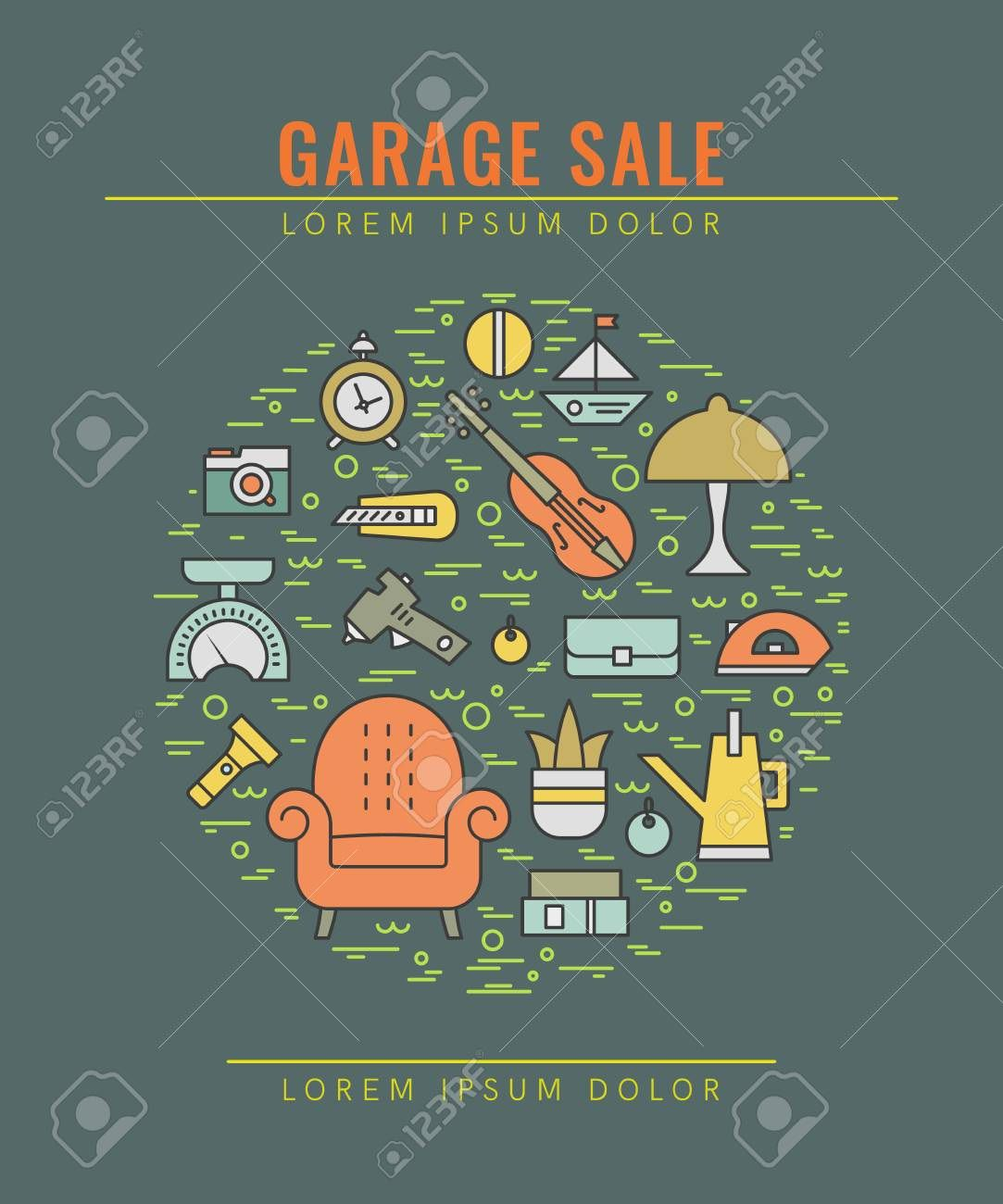 004 Exceptional Yard Sale Flyer Template Free Picture  Community GarageFull