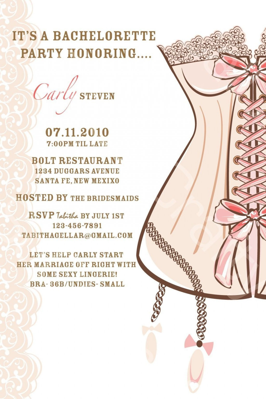 004 Fantastic Bachelorette Party Invitation Template Word Free High Definition Large