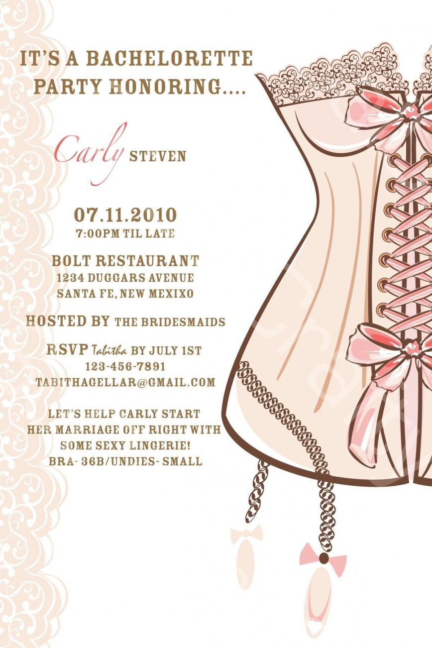 004 Fantastic Bachelorette Party Invitation Template Word Free High Definition