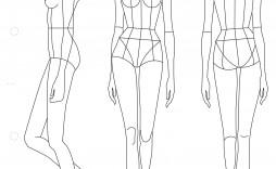 004 Fantastic Body Template For Fashion Design Photo  Female Male Human