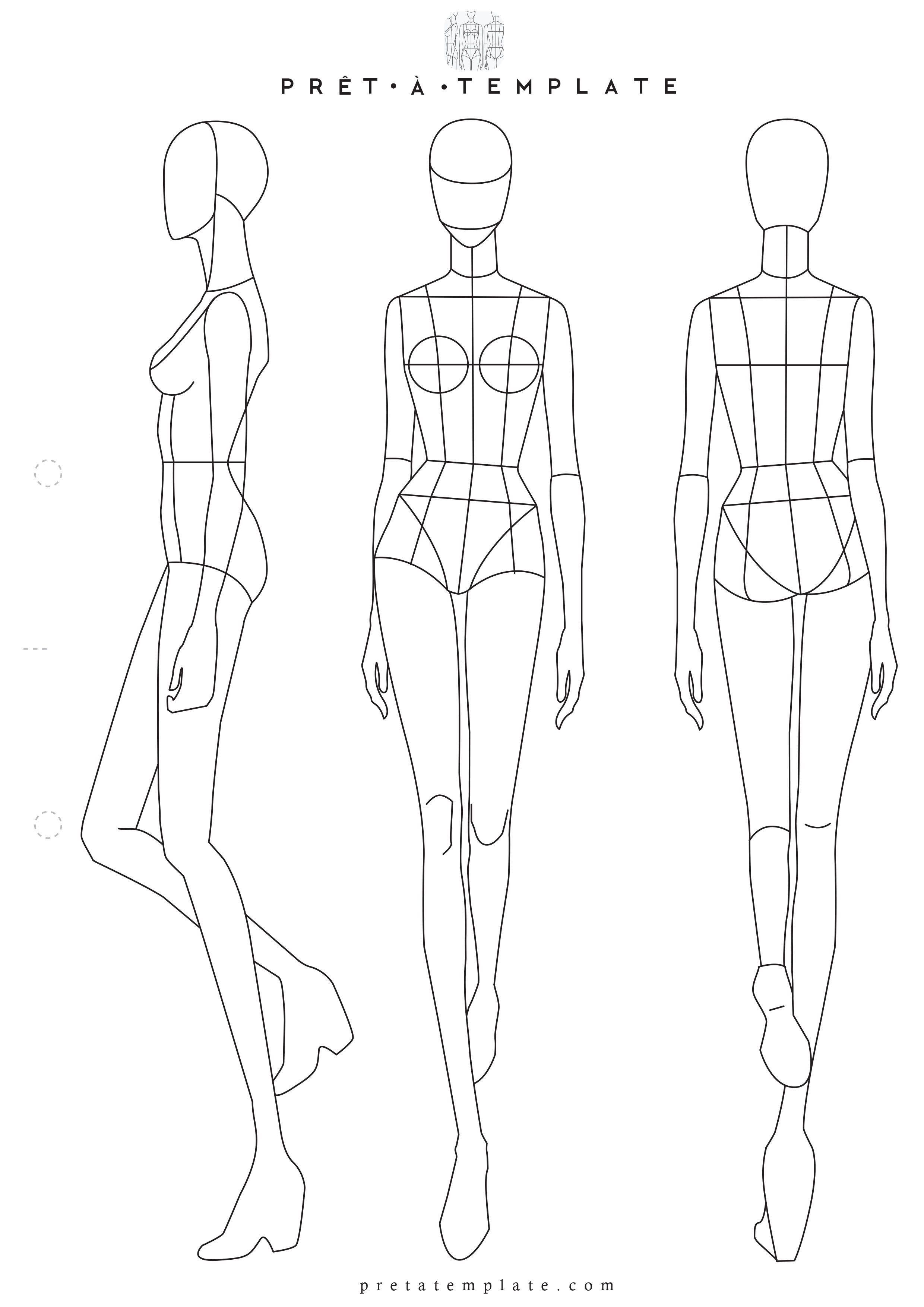 004 Fantastic Body Template For Fashion Design Photo  Female Male HumanFull