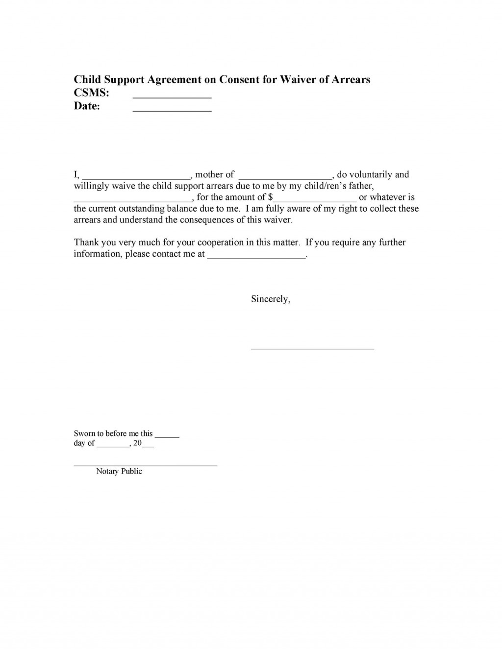 004 Fantastic Child Support Agreement Template Example  Australia Bc AlbertaLarge
